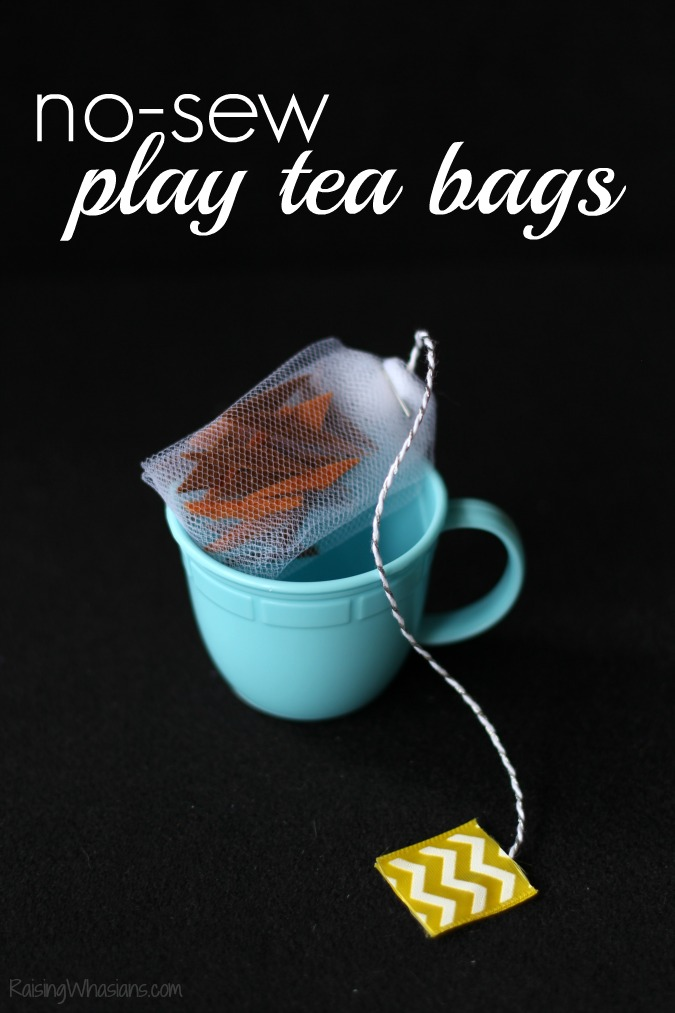 No sew play tea bags