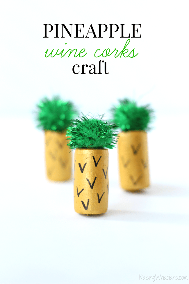 Pineapple wine cork craft
