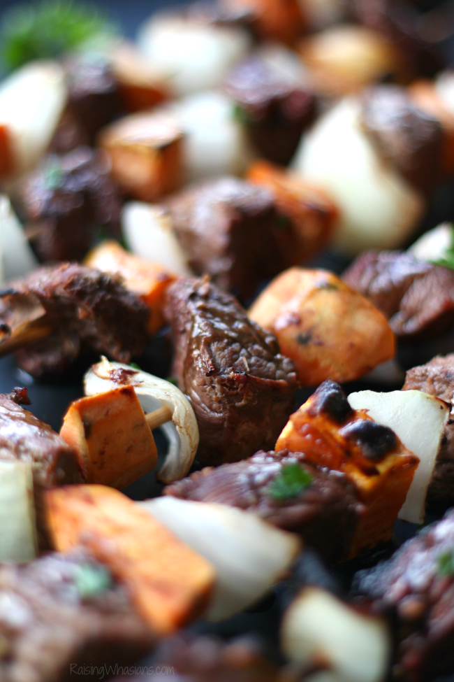 Steak kabobs sweet potato