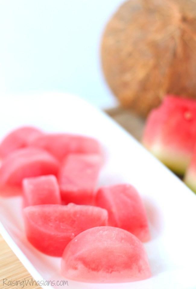 Watermelon fruit cubes