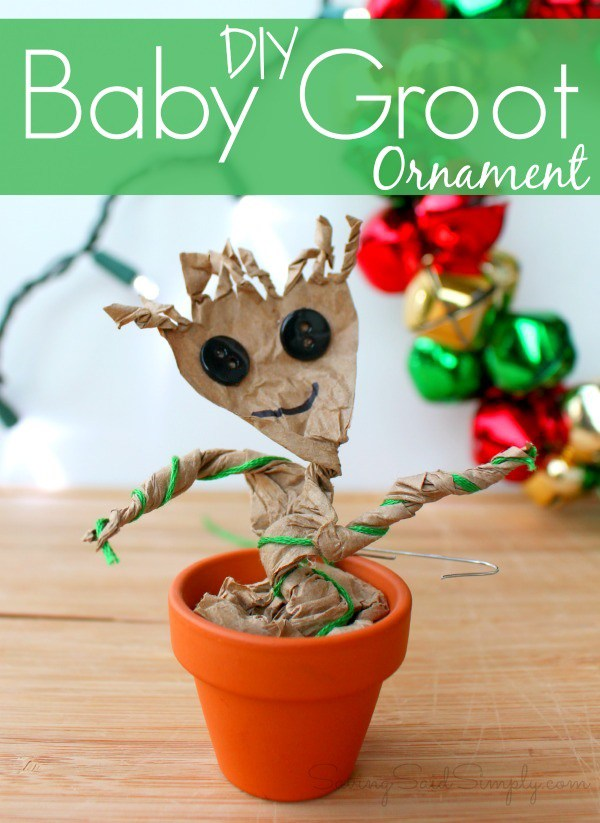 Baby Groot ornament craft