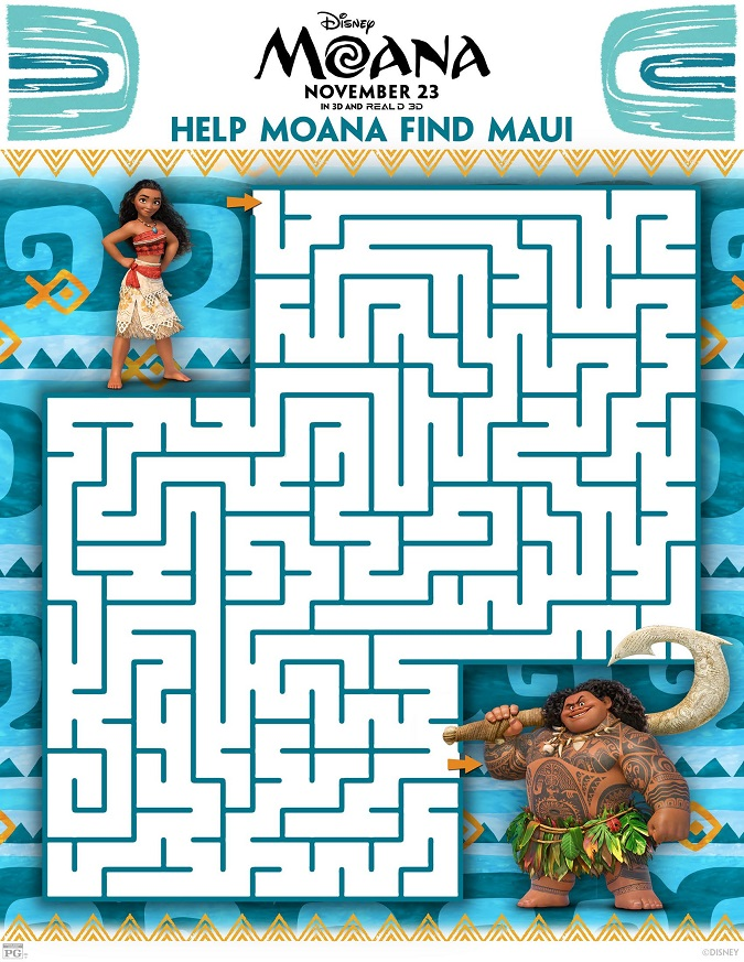 FREE Moana Coloring Sheets + Kids Activities - Raising Whasians