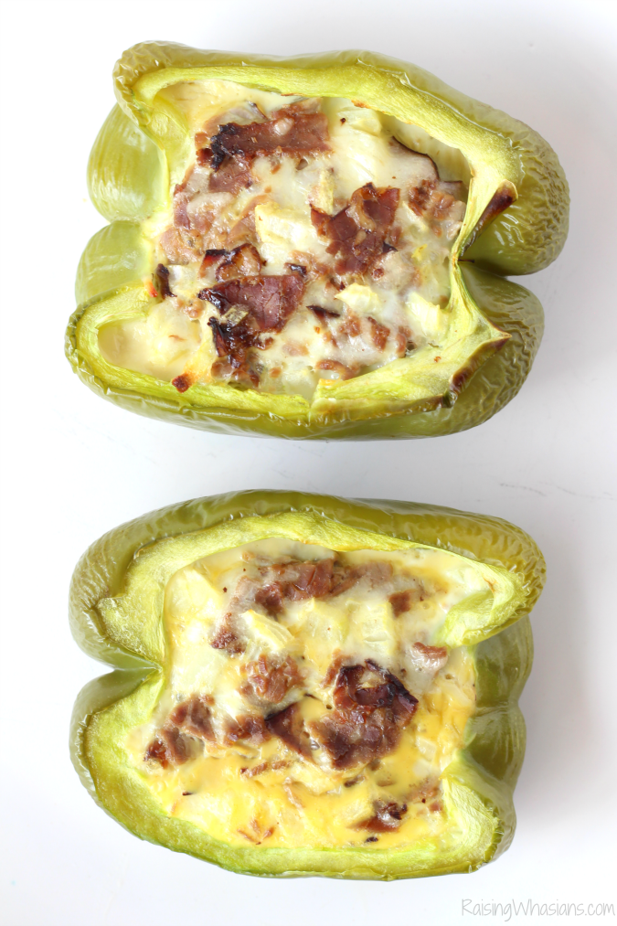 Philly cheesesteak stuffed peppers for breakfast