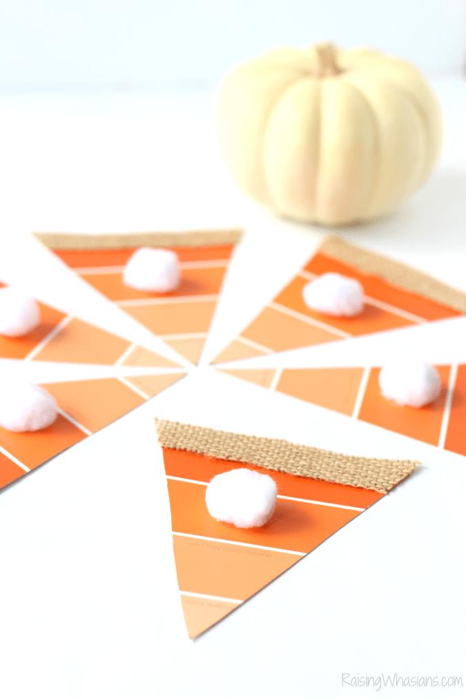 Pumpkin pie banner craft