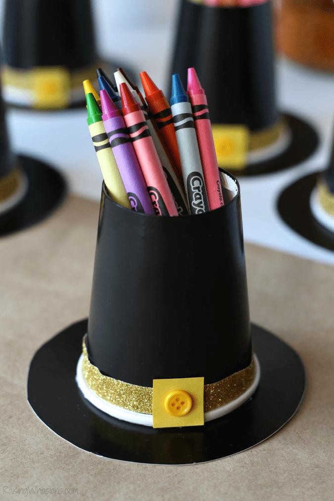 Pilgrim hat kids craft activity
