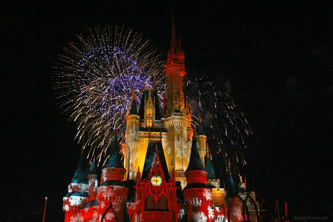 Holiday wishes fireworks magic kingdom