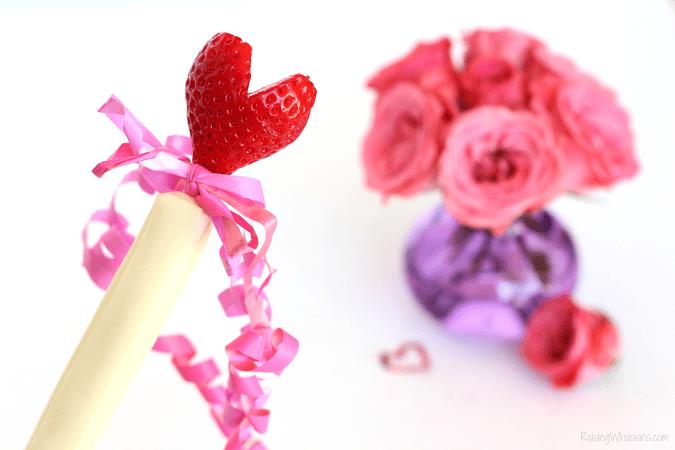 Valentine's day snack wand