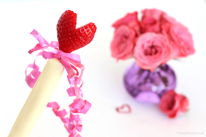 Valentine's day snack wand