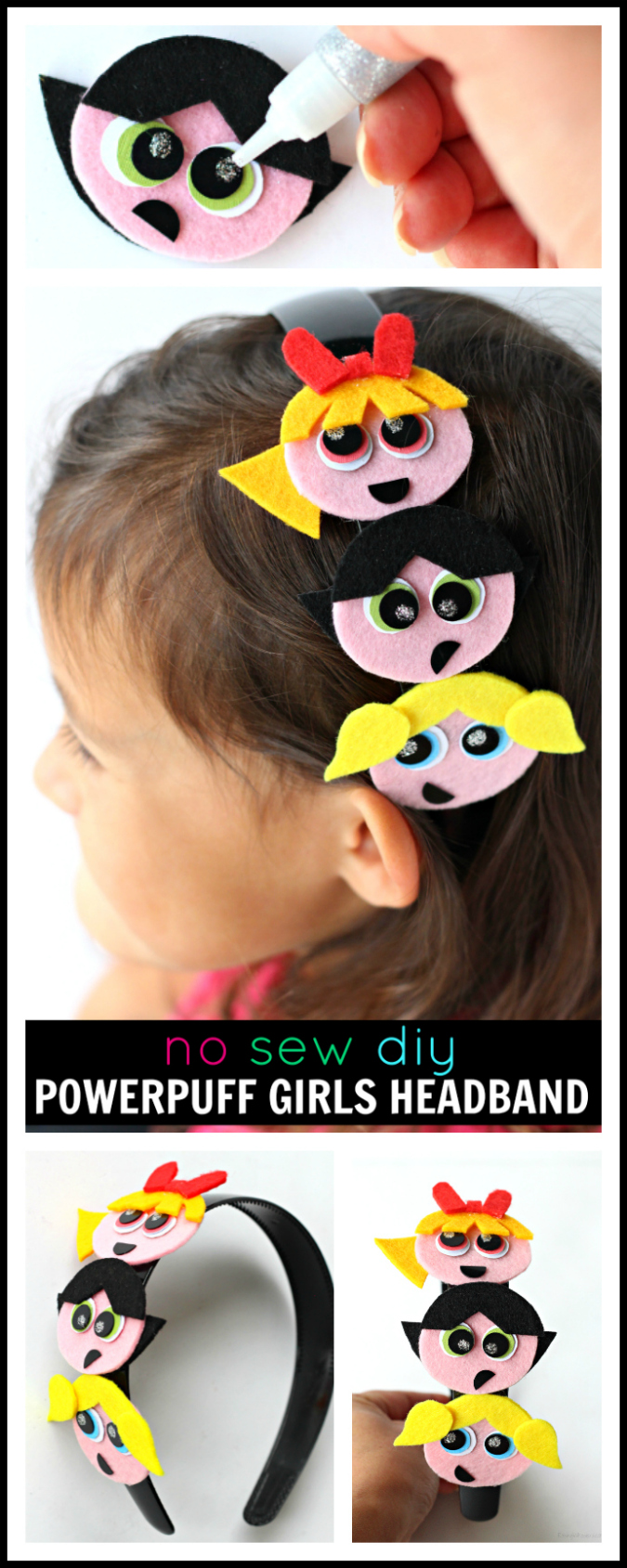 Powerpuff girls headband diy pinterest