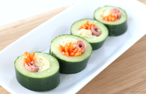 Easy Cucumber Sushi for Kids + Arla Cheese Giveaway
