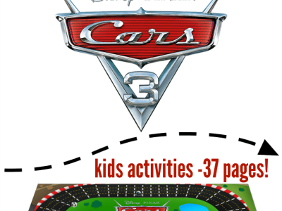 Free cars 3 printables for kids