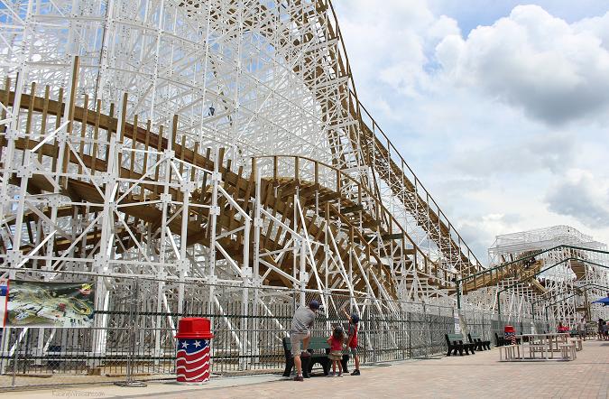 Fun spot mine blower roller coaster opening
