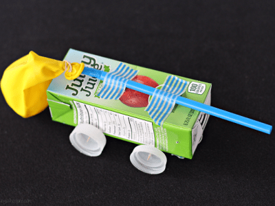 Juice box stem craft