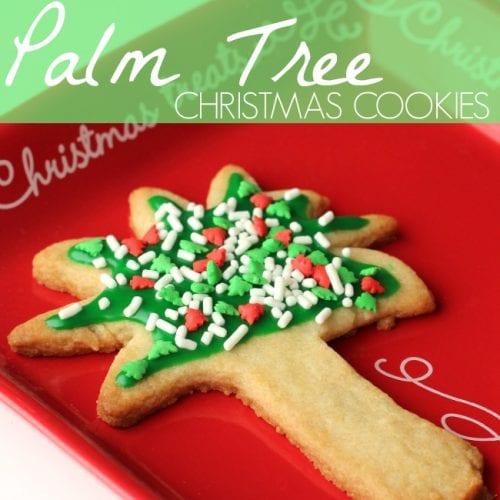 Palm tree Christmas cookies