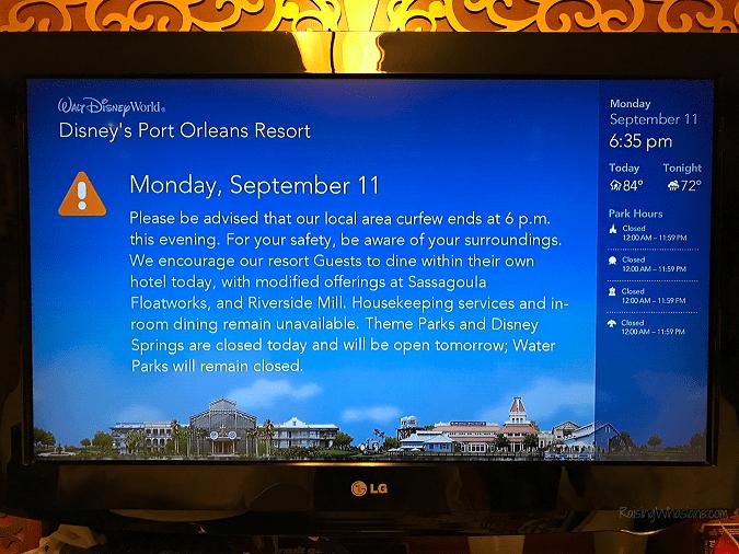 Disney resort hurricane evacuation
