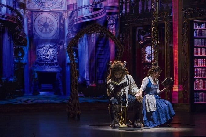 Is Disney dream beauty and the beast show scary for kids