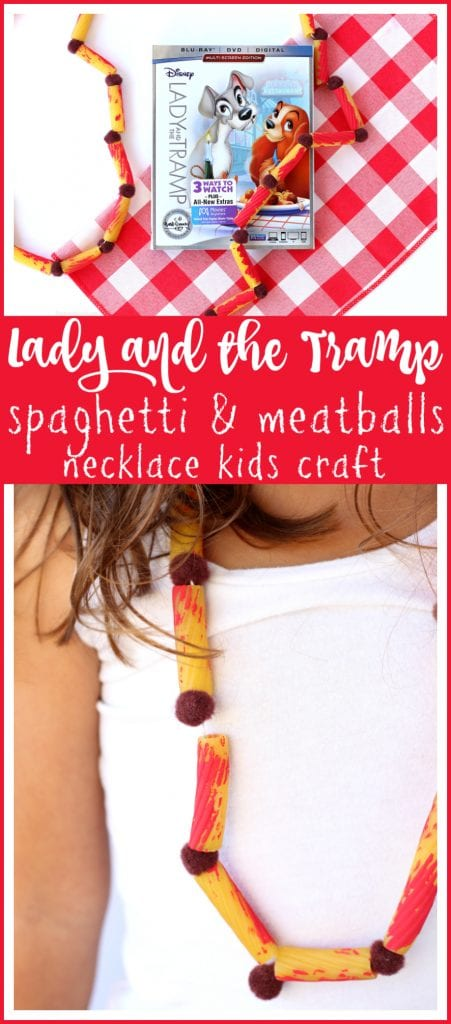 Lady and the tramp kids craft pinterest