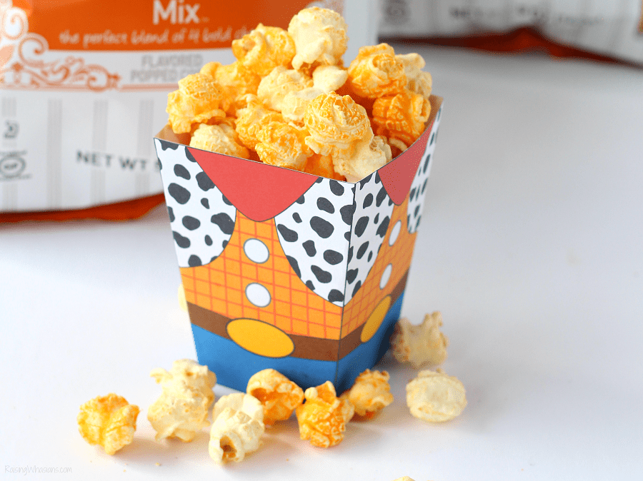 Toy story movie night free printable Grab the family for these Easy Toy Story Movie Night Ideas! Your Disney bunch will love these simple Toy Story themed food ideas (including new G.H. Cretors Popcorn flavors) + FREE Printable Woody Popcorn Box! - #ToyStory #MovieNight #PartyPlanning