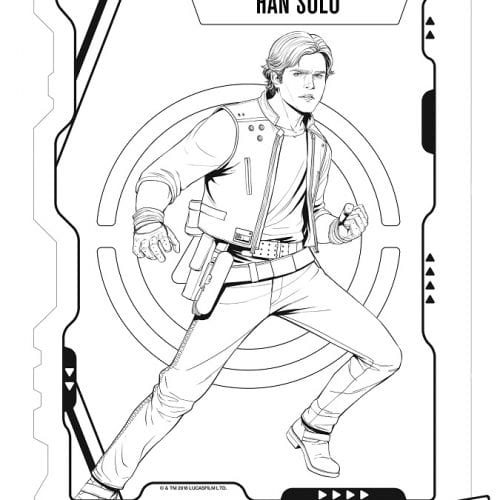 Free Solo: A Star Wars Story coloring sheets