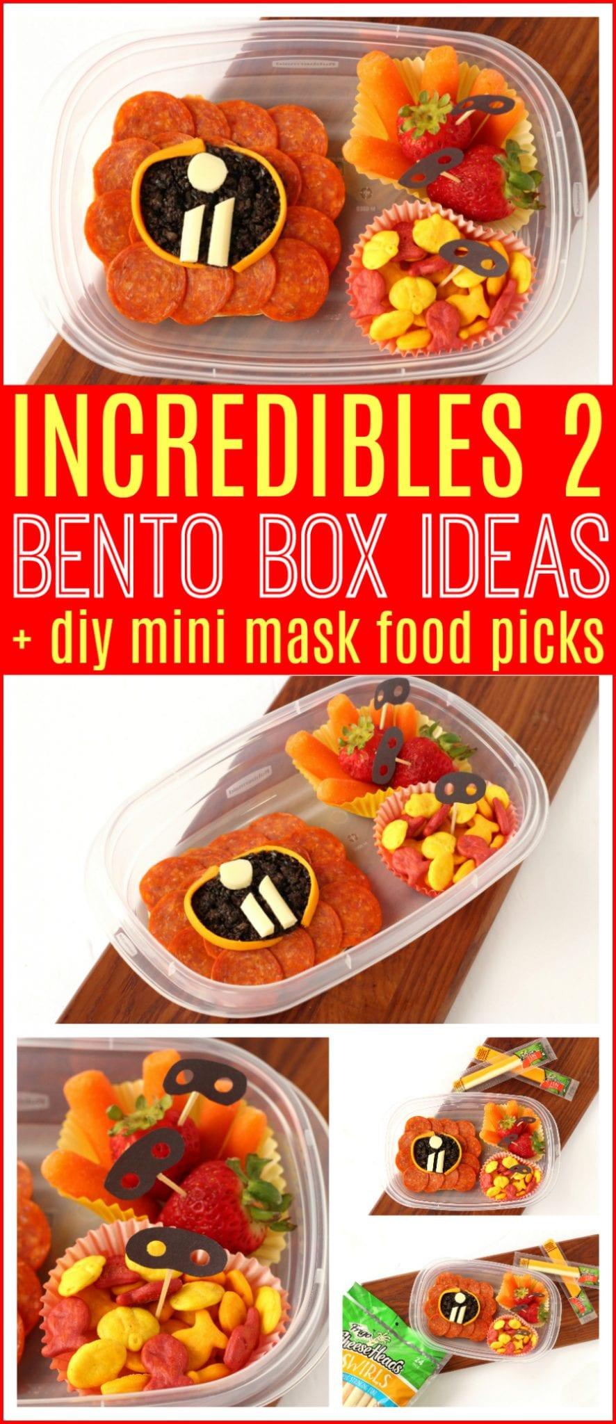 Incredibles 2 bento box ideas