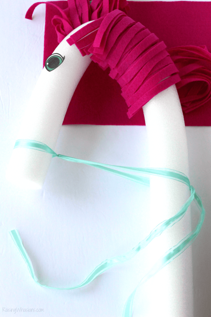 Pool noodle horse craft