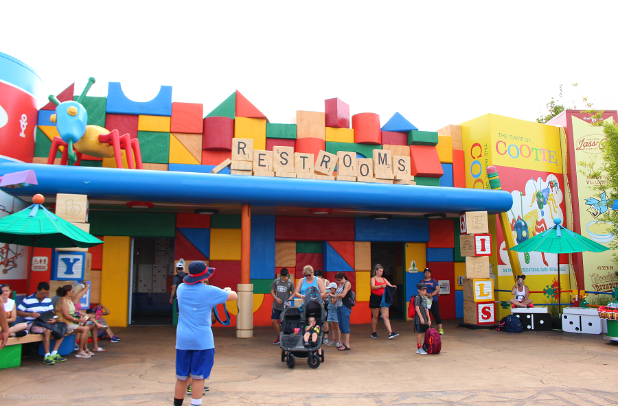 Toy story land cooties restrooms details
