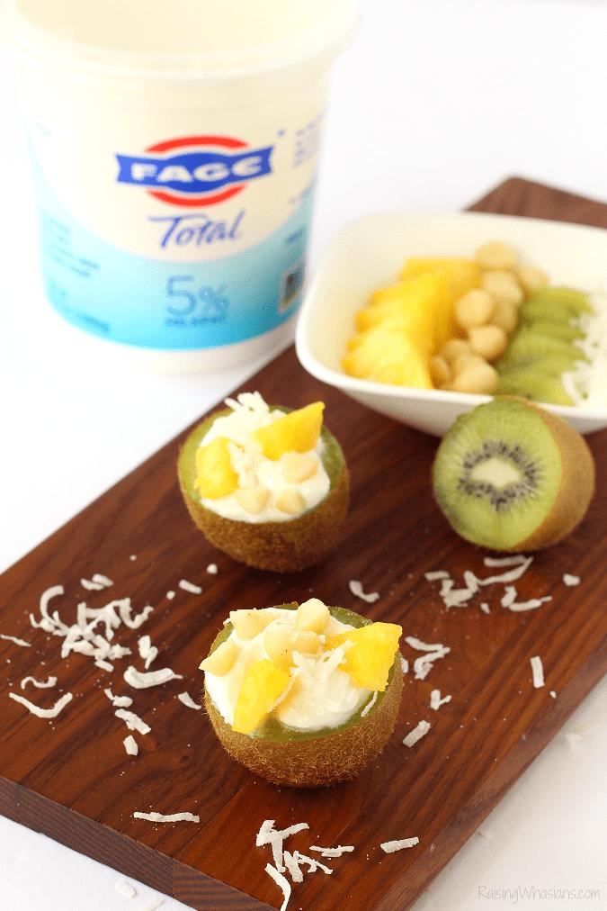 Kid friendly yogurt bar 4 Unique Fruit Bowls for a Kid-Friendly Yogurt Bar | Make this easy & FUN after-school yogurt bar for kids, because these ideas taste better in a fruit bowl #Recipe #Breakfast #BreakfastRecipe #HealthyRecipe