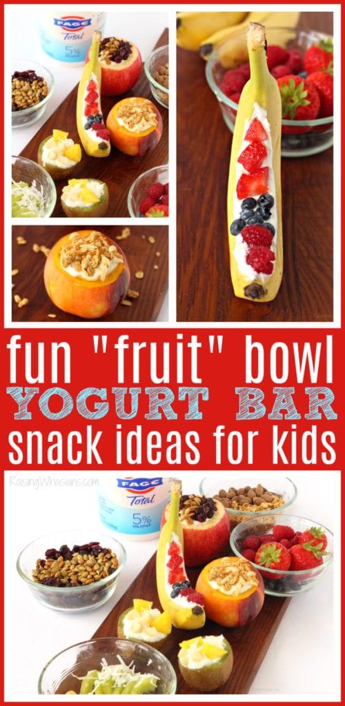 Yogurt bar ideas for kids 4 Unique Fruit Bowls for a Kid-Friendly Yogurt Bar | Make this easy & FUN after-school yogurt bar for kids, because these ideas taste better in a fruit bowl #Recipe #Breakfast #BreakfastRecipe #HealthyRecipe