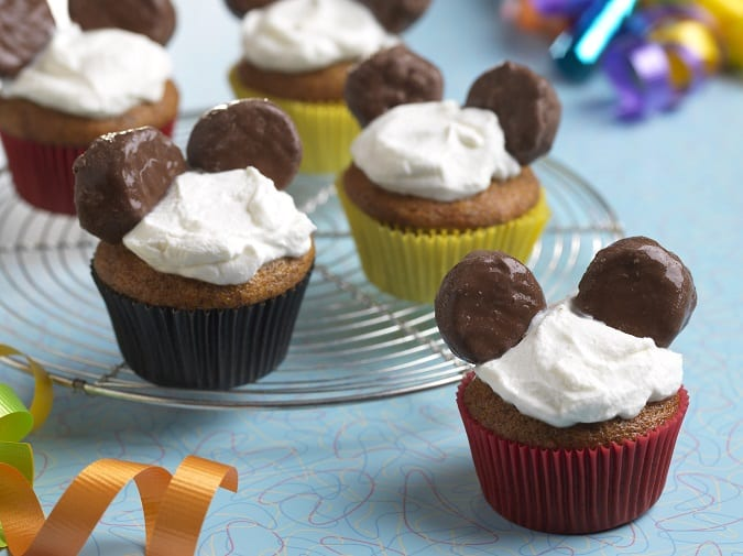 Healthy Mickey cupcakes