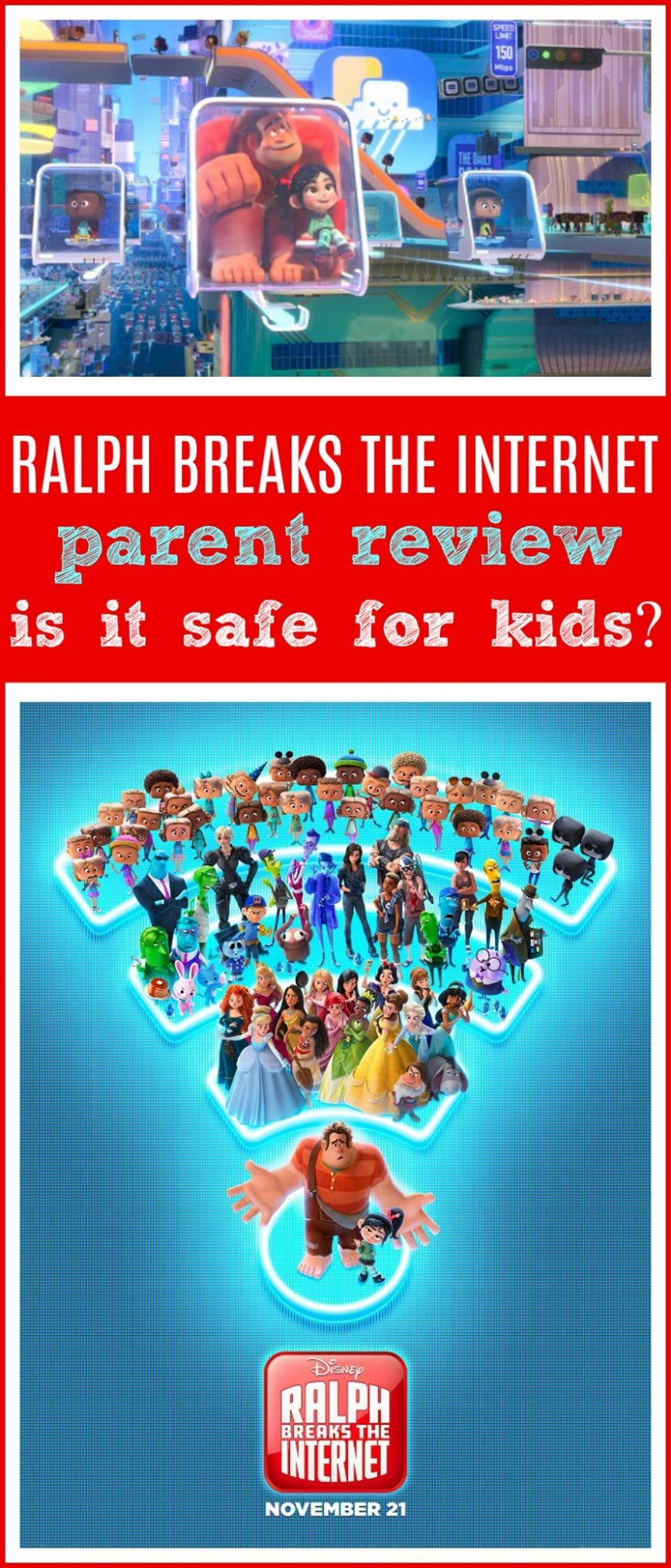 Ralph breaks the internet review for kids