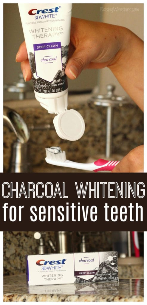 Charcoal whitening for sensitive teeth