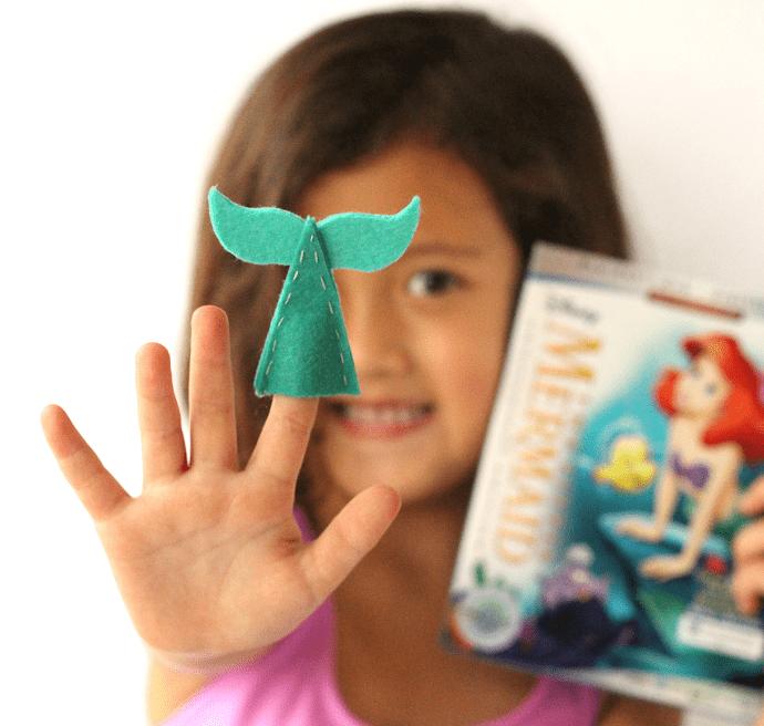 DIY mermaid tail finger puppets