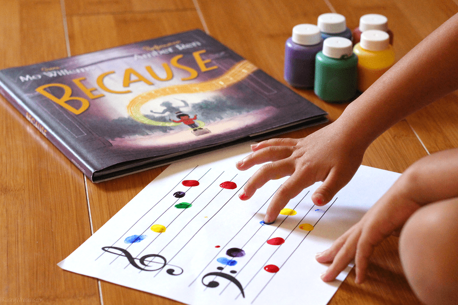 Music notes craft idea