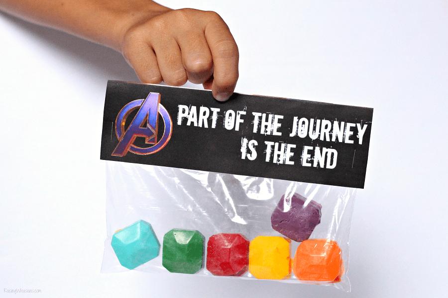 Avengers endgame party favor ideas