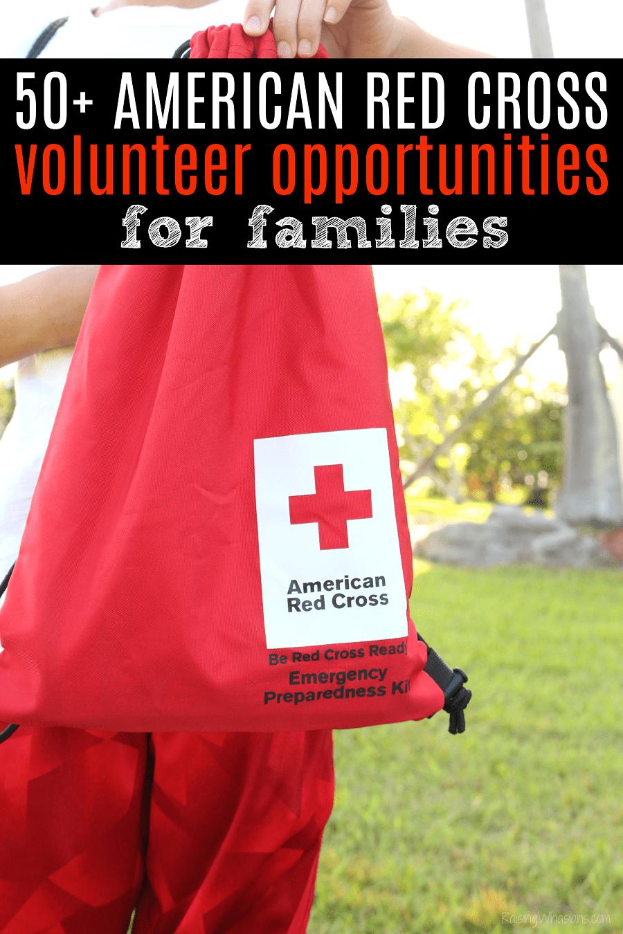 Red cross volunteer opportunities for families