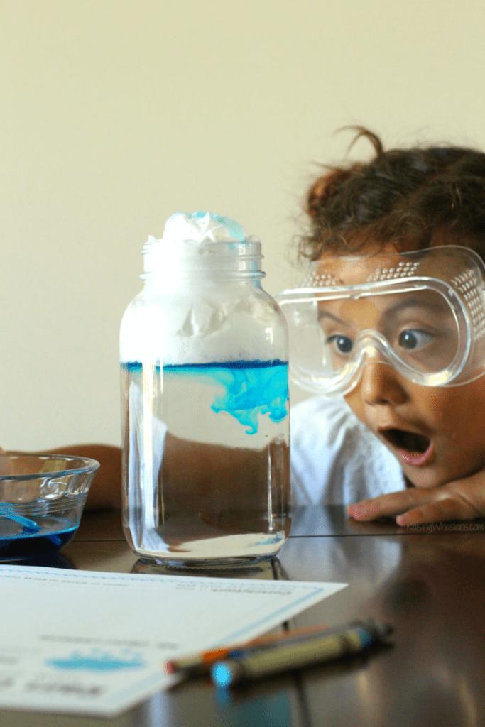 Easy preschool science experiment idea