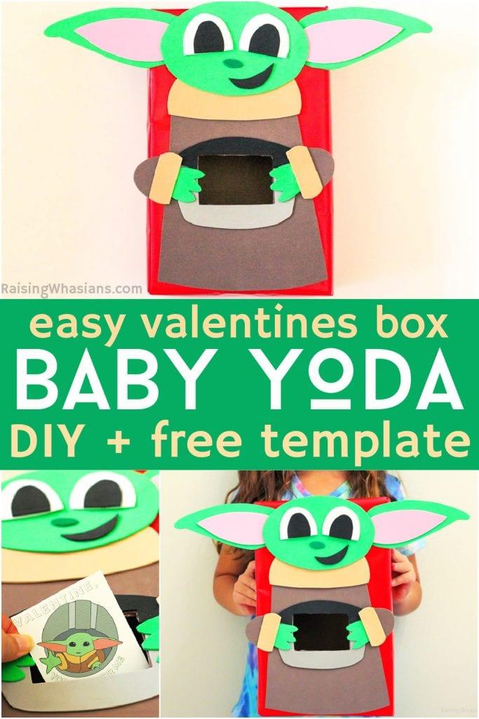 DIY baby Yoda valentine box