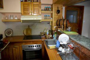 Кухня в Къща за гости Райски Кът Мезек
