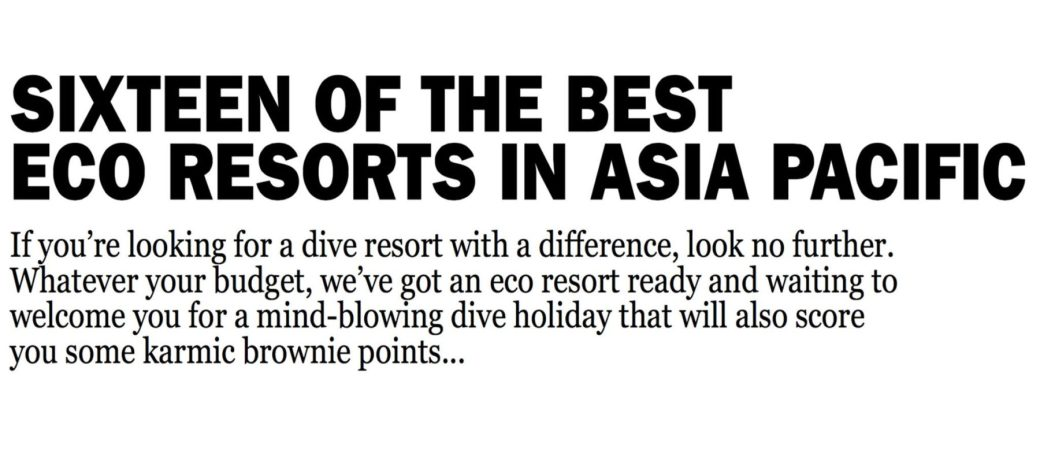 Concepto Eco Resort en Raja Ampat