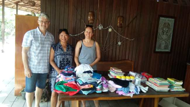 cloth and books donation from our guest