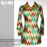 BLS-093 Blouse Batik Kantor - TRIBAL MODERN 01