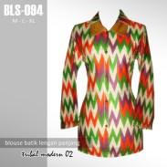 BLS-094 Blouse Batik Kantor - TRIBAL MODERN 02
