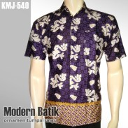 Kemeja Batik Modern | Ornamen Tumpal UNGU | KMJ-540 - www.tokopedia.com/rajapadmibatik