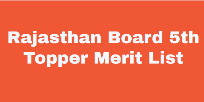 rbse 5th board topper list merit list