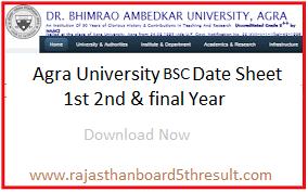 Agra University BSC Date Sheet 2020