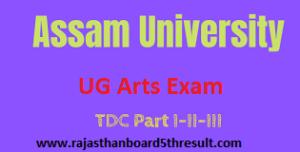 Assam University BA Routine 2021