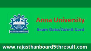 Anna University Admit Card 2021
