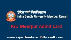 IGU Meerpur Admit Card 2021