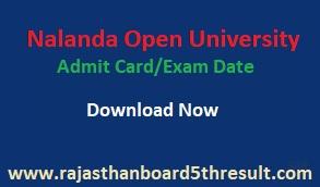 Nalanda Open University Admit Card 2020