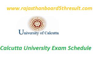 Calcutta University Exam Schedule 2020